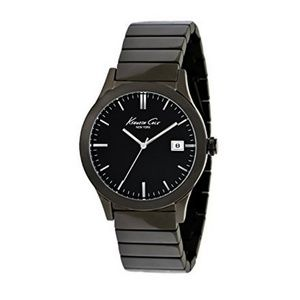 Kenneth Cole Men KC9117 Gunmetal Steel Band NWT